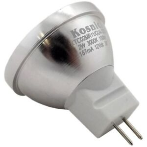 10 x Kosnic 2w (=20w) MR11 35mm LED 38° 12v Warm White 3000K Non-Dimmable