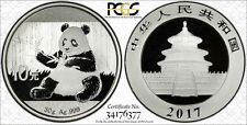 PCGS Secure 2017 China PANDA 10¥ Yuan Coin MS69 PRC Mint Silver 30g .999 AgPure
