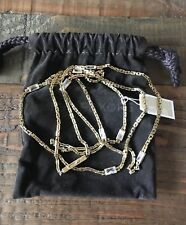Michael Kors Hollywood Long Station Necklace Crystal  Goldtone