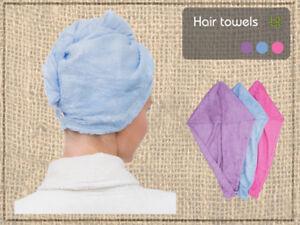Bamboo Hair Towel - Great Super Absorbent Hair Drying Towel - Anti-Bacterial