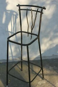 Dining room or Bar Stool Wrought Iron High Chair Unique Design Furniture Solid m