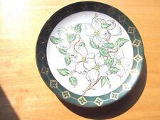 Decorative Plate, Beautiful Dogwood white & green Plate