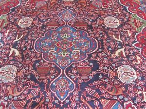 A MAGICAL OLD HANDMADE TRADITIONAL ORIENTAL CARPET (375 x 300 cm)