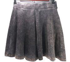 Topshop Womens Skirt Size 4 Grey Acid Wash Mini Stretch Casual Skater