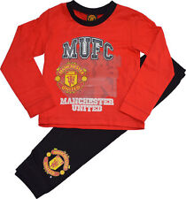 Manchester United Boys' 100% Cotton Nightwear (2-16 Years)