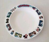 Vintage Disneyland Train Plastic Bowl DEKA Mickey Donald Walt Disney Characters