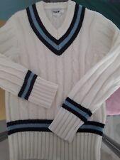 Mitre   Cricket Jumper Y blue stripe