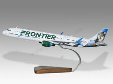 Airbus A321 Frontier Virginia The Wolf Handcrafted Solid Wood Display Model