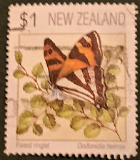 Stamp New Zealand 1991 $1 Butterflies - Forest Ringlet Used