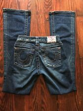 TRUE RELIGION Distressed Blue Jeans Women's Size 25 X 32 Stone Wash Bootcut