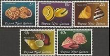 Papua New Guinea 1981 MNH MUH Set - Land Snail Shells.