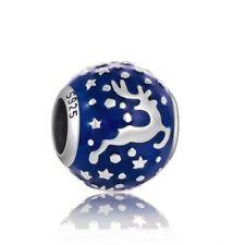 REINDEER DEER Charm Bead 925 Sterling Silver