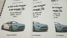 ASTON MARTIN V8 VANTAGE & S PARTS MANUAL COUPE ROADSTER 05 - 15 REPRINTED A4