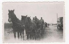 4/382 FOTO WEHRMACHT SOLDATEN  4 -  PFERDE GESPANN NIETEBSK 1944