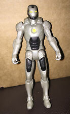 SILVER SUIT IRON MAN ACTION TOY  FIGURE 2011 MARVEL HASBRO 10.5 cm
