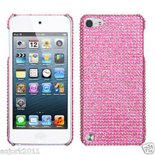 Apple iPod Touch 5 DIAMOND CASE HARD BACK COVER ACCESSORY SOLID PINK