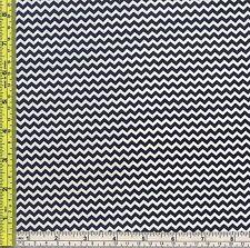 Mini Chevron Navy Blue Sewing Cotton Marshall Fabric 1/4 yd 22.5 cm off bolt