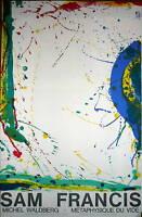 Sam Francis Affiche originale lithographie sur velin d'Arches Art Abstrait