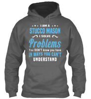 Machine washable Stucco Mason - I Am A Solve Problems Gildan Hoodie Sweatshirt