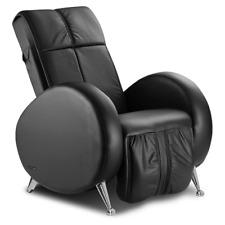 Massagesessel KEYTON Retro in Echtleder schwarz