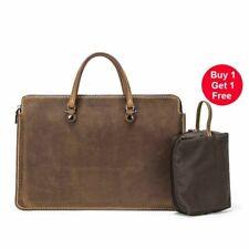 Laptop Bag Case For Macbook Pro Handbag Notebook Retro Genuine Leather Bag New