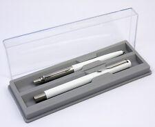 Parker White Vector Rollerball & Jotter Ballpoint Pen Set. Boxed. NEW