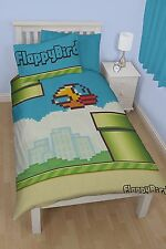 Character world Flappy Bird Pipes Single Panel Duvet Set + Pillow case