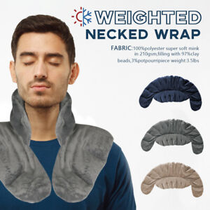 Weighted Neck Shoulder Wrap Pain Relief Deep Moist Heat Safe Natural Home Remedy