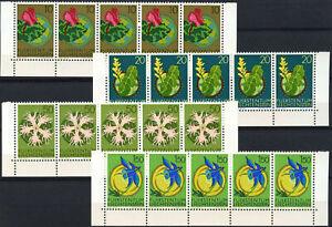 Liechtenstein 1971 SG#532-5 Flowers MNH Blocks Set #E5715