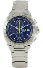 Seiko Alarm Chronograph 100m Blue Dial Men's Watch SNAA33P1