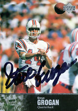 STEVE GROGAN AUTOGRAPHED UPPER DECK NEW ENGLAND PATRIOTS FOOTBALL CARD