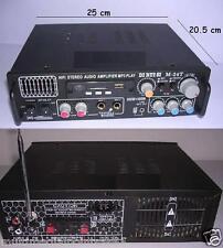 AMPLIFICATORE 2X20W RMS USB AUX MP3 2 IN MICROFONO KARAOKE FUNZIONE ECO