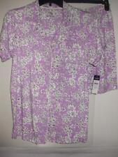 Chaps Womens Purple Floral  2pc Short Pajamas PJ  Small NWT $50