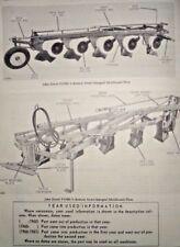 John Deere F135H F145H Semi-Integral Moldboard Plow Parts Catalog Manual JD