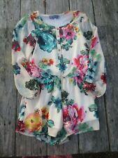 Truly Me by Sara Sara ~ Girls Garden Floral Spring Romper ~ Size 8