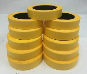 1-48 Rolls Yellow Automotive Masking Tape Painting Body Shop 1x50yd 3/4 Blem 2nd