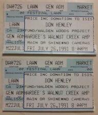 Don Henley Concert Ticket Stub Walnut Creek Raleigh Nc July 30 1991 Bonnie Raitt