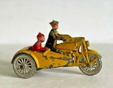 Tootsie Toy Motorcycle + Side Car With Comic Characters - Chicago - 1930'S