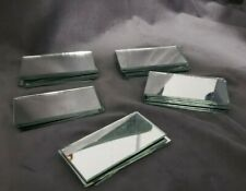 "Small Mini Rectangle Craft Mirrors 3"" 1/2 x 1"" 3/4 Inch 25 Pieces Mirror"