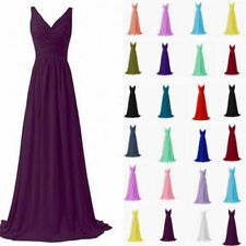 Formal New Chiffon Evening Bridesmaid Dresses Party Ball Prom Gown Dress 6-24