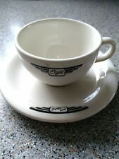 Retro Cafe Coffee Cup and Saucer Vintage Style