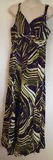 George Purple & Yellow Maxi dress Size UK 14