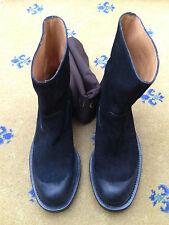 New Gucci Men's Shoes Black Suede Biker Style Boots UK 7.5 US 8.5 EU 41.5