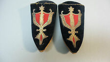 18th C. ANTIQUE CLASSIC BAROQUE HAND STITCHED BLACK VELVET SLIPPERS