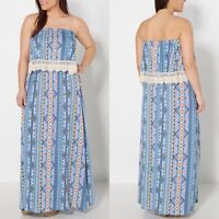 d931e1c335 NEW! Rue 21 Flounce Maxi Tube Dress With Crochet Trim Plus Size 3X 22
