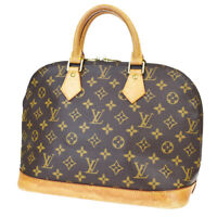 Authentic LOUIS VUITTON LV Alma Hand Bag Monogram Leather Brown M51130 86BP289