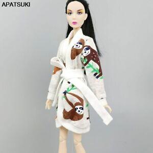 "Cartoon Bradypod Robe For 11.5"" 1/6 Doll Bathrobe Bathroom Winter Pajamas Toys"