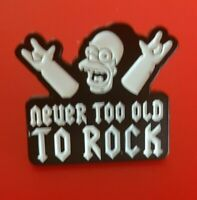 Simpsons Pin Homer Rock and Roll Rockstar TV Enamel Metal Brooch Badge Lapel