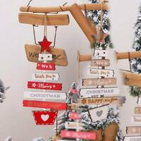 Wooden Christmas Tree Hanging Decorations Wooden Pendant Xmas Tree Home Gift