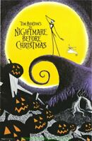 NIGHTMARE BEFORE CHRISTMAS MOVIE POSTER Licensed Commercial Print 22x34 DISNEY